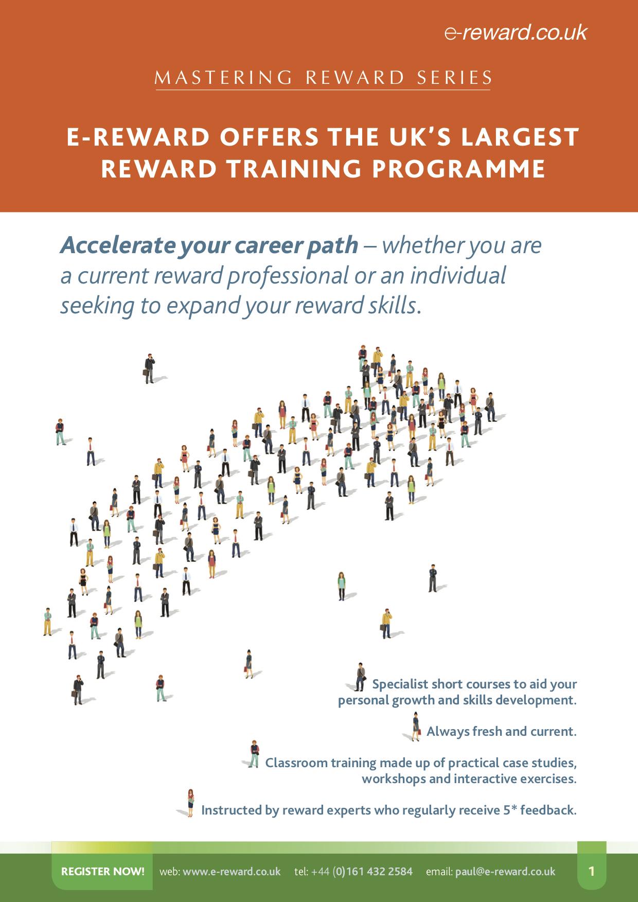 Mastering Reward brochure image